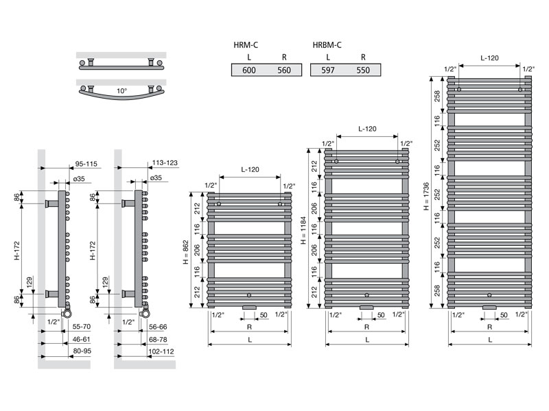 Agave Chrom HRM-C 1184 x 600