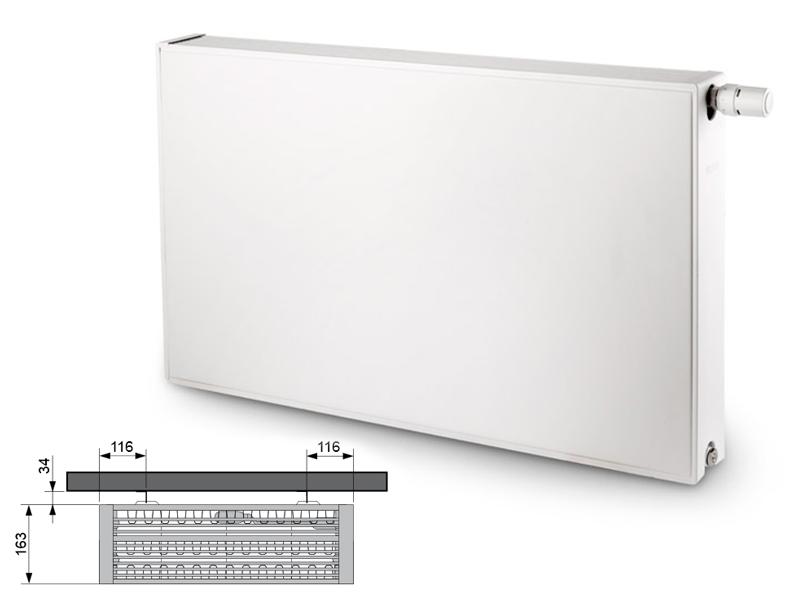 Flatline Typ 33 900 x 400 kolor biały